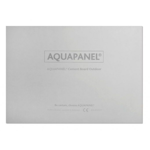 Аквапанель KNAUF Outdoor цементная для плитанаружных работ, 900х2400х12,5 мм