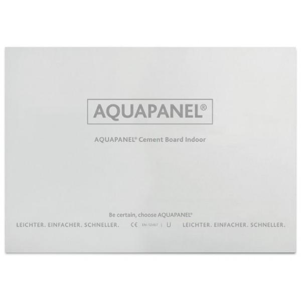 Аквапанель KNAUF Indoor цементная плита для внутренних работ, 900х2400х12,5 мм