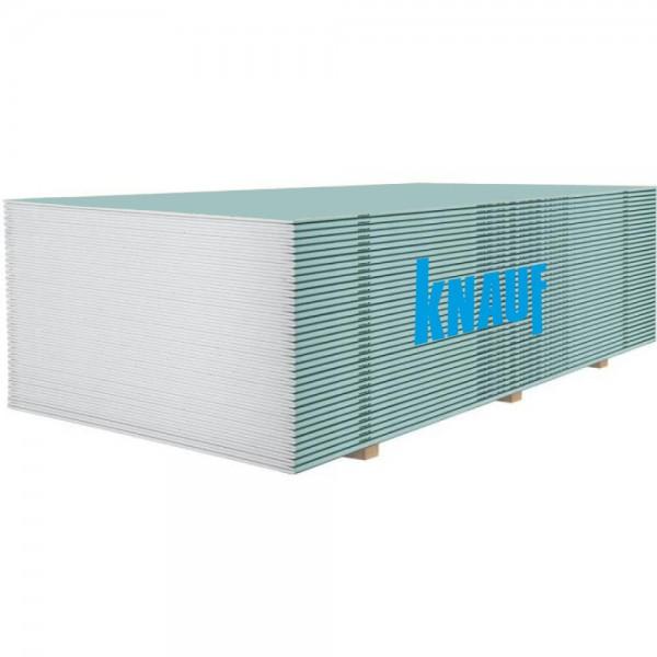 Гипсокартон влагостойкий Knauf 3000х1200x12,5 мм