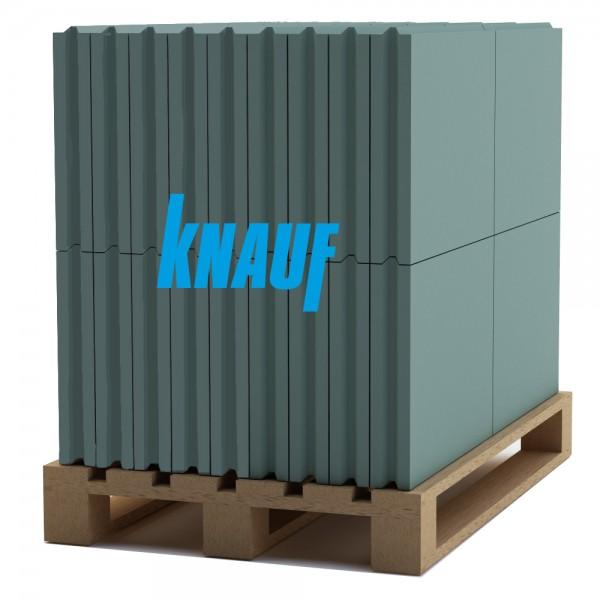Гипсовая пазогребневая влагостойкая плита Knauf (666х500x80 мм.)