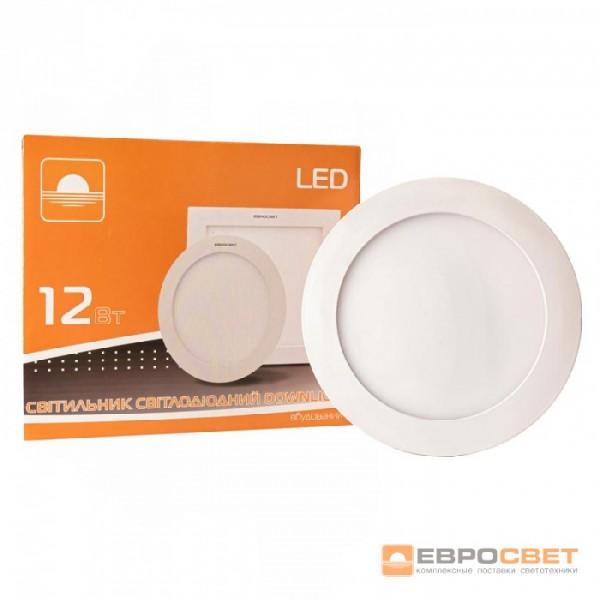 Світильник точковий врізний ЕВРОСВЕТ 12Вт коло LED-R-170-12 6400K