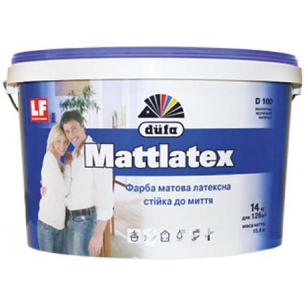 Краска Dufa Mattlatex D100 белый 10 л 14 кг