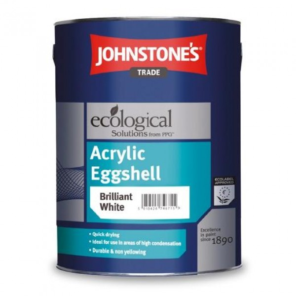 Акриловая полуматовая краска Acrylic Eggshell JOHNSTONE'S 5 л