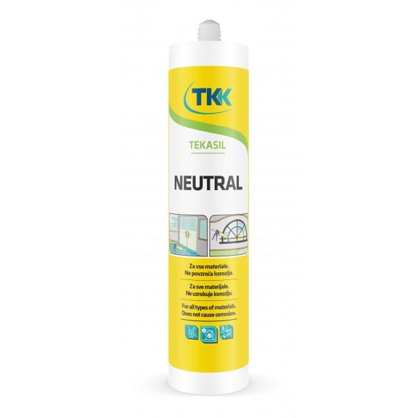 Клей-герметик ТКК Tekasil Neutral силиконовый, однокомпонентный, прозрачный, 280 мл