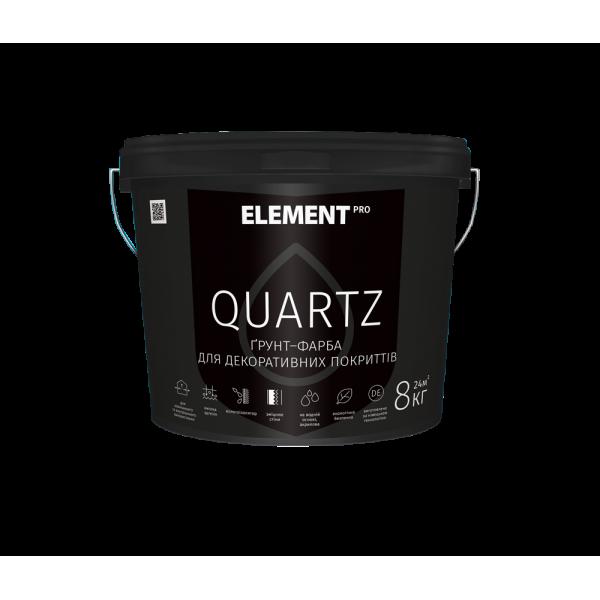 Грунт-краска для декоративных покрытий Element PRO QUARTZ (белая),  8кг