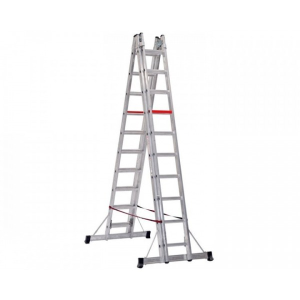 Телескопическая алюминиевая лестница VIRASTAR 2x6 ступеней