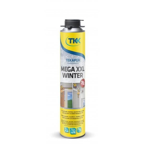Профессиональная монтажна зимняя пена TEKAPUR MEGA XXL 900 ml