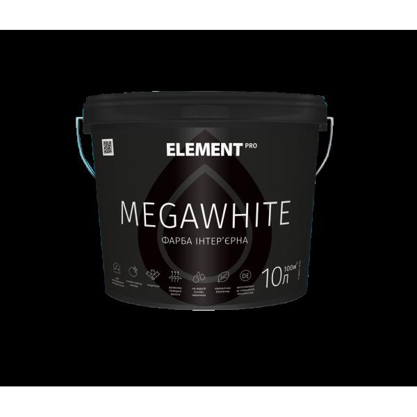 Интерьерная латексная краска Element PRO MEGAWHITE, 10 л