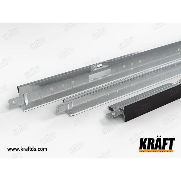 Профиль пристенный KRAFT Fortis L 19*24*3000мм RAL 9003