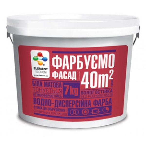 Краска Элемент эконом фасадная, 14 кг