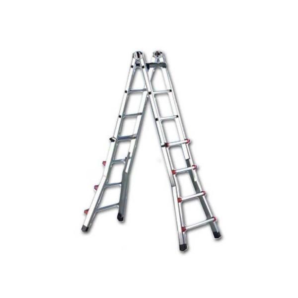 Телескопическая лестница SVELT SCALISSIMA 6+6 ступеней