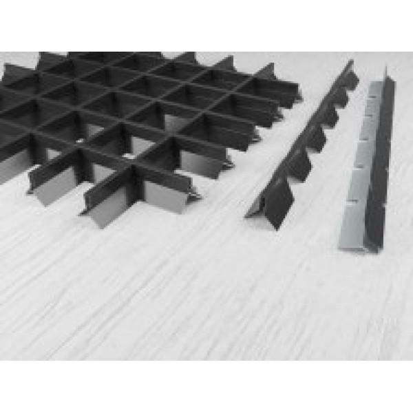 Пирамидальный грильято ячейка 100х100 RAL 9003, 9005, 9006