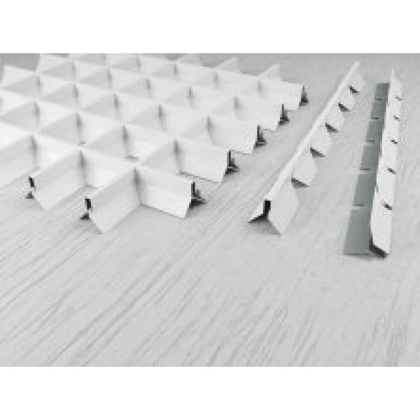 Пирамидальный грильято ячейка 50х50 RAL 9003, 9005, 9006