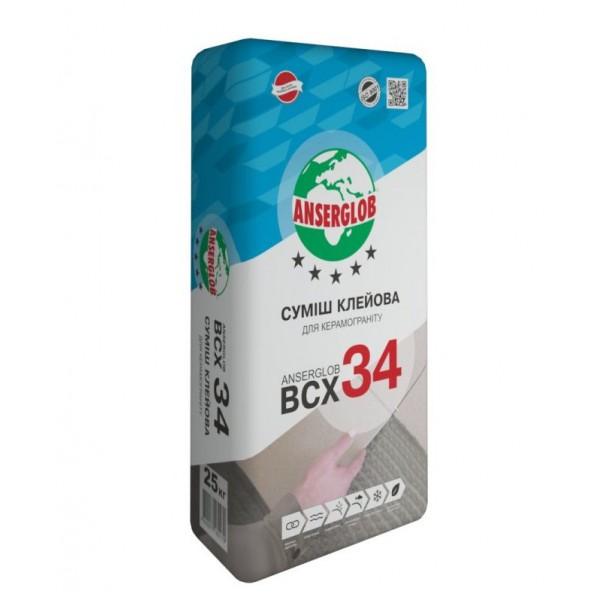 Клей для керамогранита Anserglob BCX-34, 25 кг