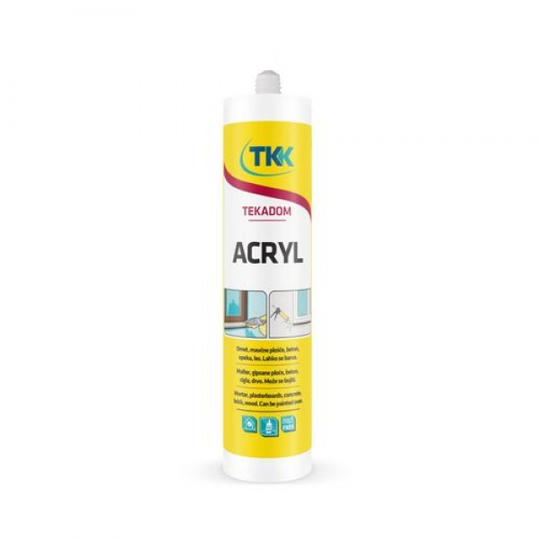 Герметик акриловый белый TEKADOM ACRYL WHITE 300 ml