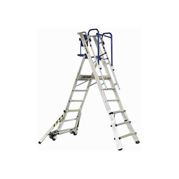 Телескопическая лестница-помост SVELT TELEFLY 5 ступеней