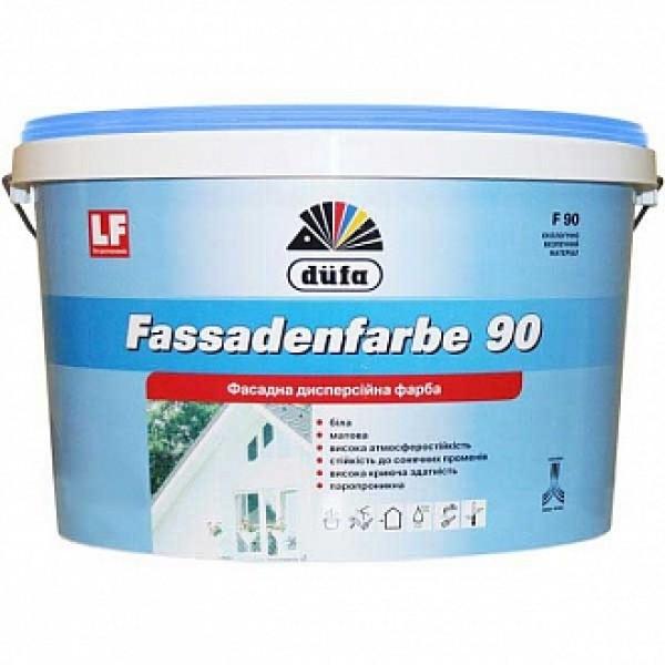 Краска акриловая Dufa Fassadenfarbe F90 матовая белая 14 кг