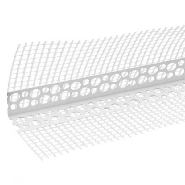 Уголок пластиковый с сеткой, 2,5 м